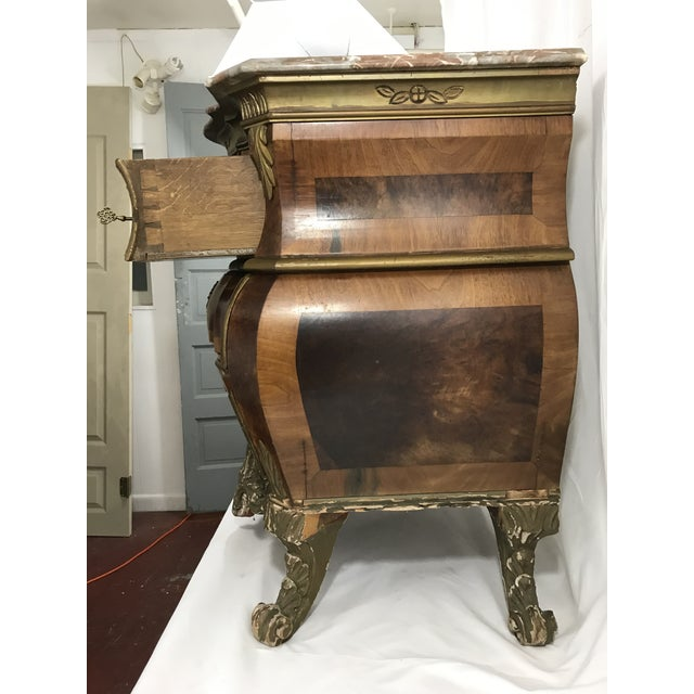 Hollywood Regency Venetian Style Marble Topped Commode For Sale - Image 3 of 6
