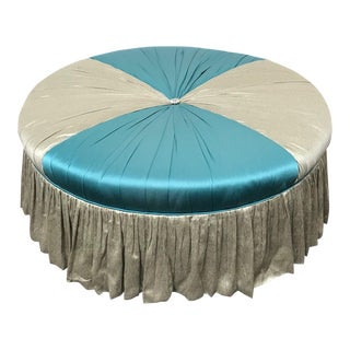 RJones Custom Skirted Ottoman For Sale