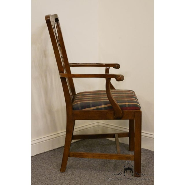 Late 20th Century Late 20th Century Drexel Heritage Chippendale Style Dining Chair For Sale - Image 5 of 13