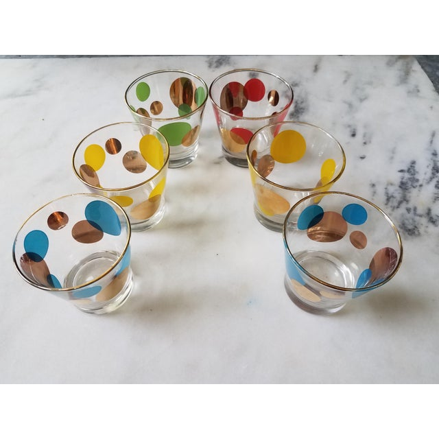 Russel Wright Mid-Century Eclipse Gold Cocktail Glasses - Set of 6 - Image 2 of 10