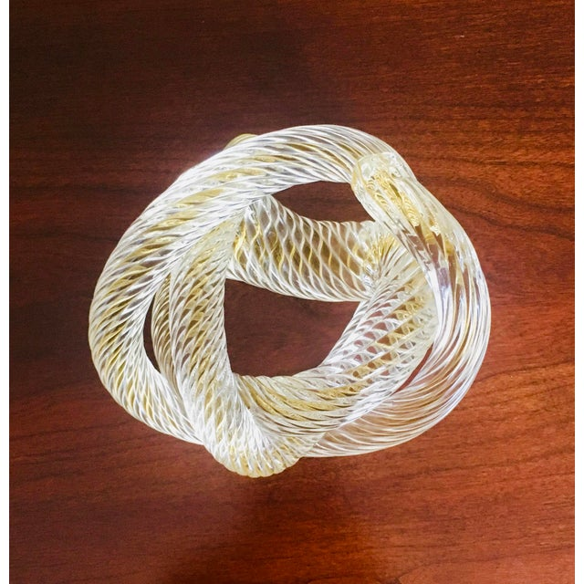 Mid 20th Century Murono Glass Zanetti Twisted Love Knot For Sale - Image 5 of 6