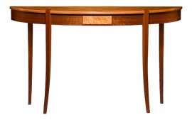 Image of Brown Demi-lune Tables