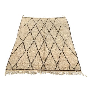 Vintage Beni Ourrain Moroccan Rug - 6′8″ × 7′11″ For Sale