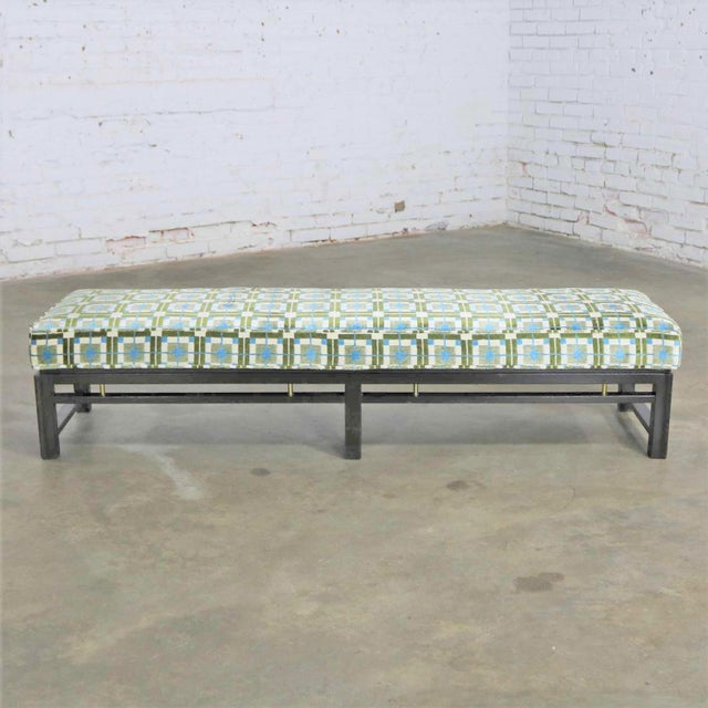 Edward Wormley for Dunbar Mid Century Modern Bench Newly Upholstered For Sale - Image 13 of 13