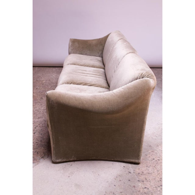 1970s 1970s Tentazione Sofa by Mario Bellini for Cassina in Original Sage Velvet For Sale - Image 5 of 13