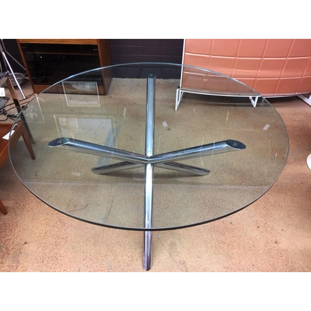 Milo Baughman Style Jax Dining Table For Sale In Phoenix - Image 6 of 8