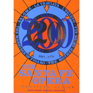 Santa Fe Opera Silkscreen Poster by Robert Indiana For Sale