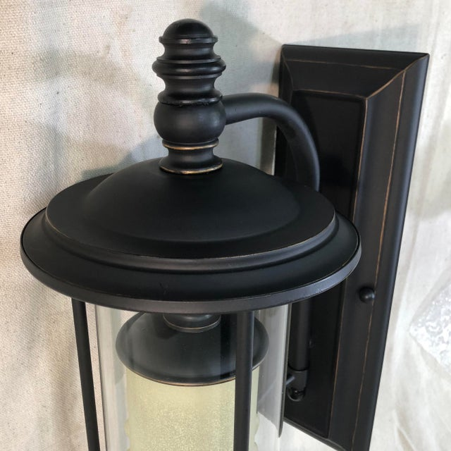 Metal Savoy House Ch e 1-Light Outdoor Wall Lantern in English Bronze For Sale - Image 7 of 13