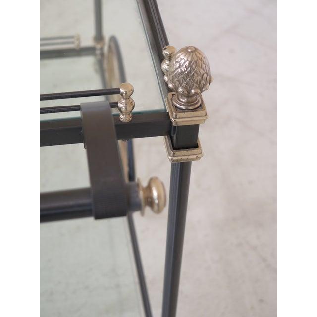 Regency Style Brass & Steel Tea Cart Server For Sale - Image 4 of 11