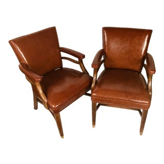 Mid Century Gregson Manufacturing Co. Of Liberty, N. Carolina Office Chairs - a Pair For Sale