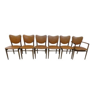 Mid Century Modern Danish Modern Style Dining Chairs - Set of 6 For Sale