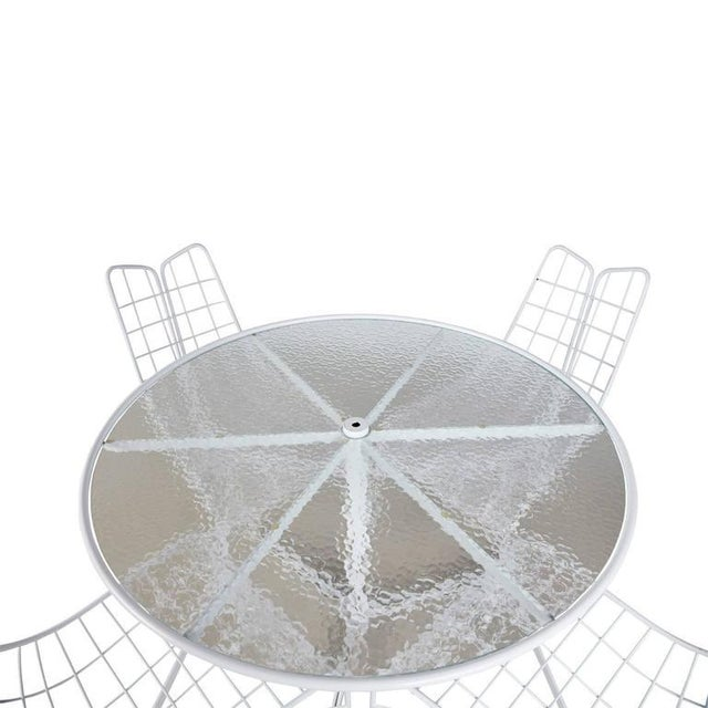 "White Vladimir Kagan Restored ""Capricorn"" Outdoor Dining Set - S/4 For Sale - Image 8 of 9"