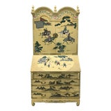 Image of Vintage Chinoiserie Hand-Painted Secretary For Sale
