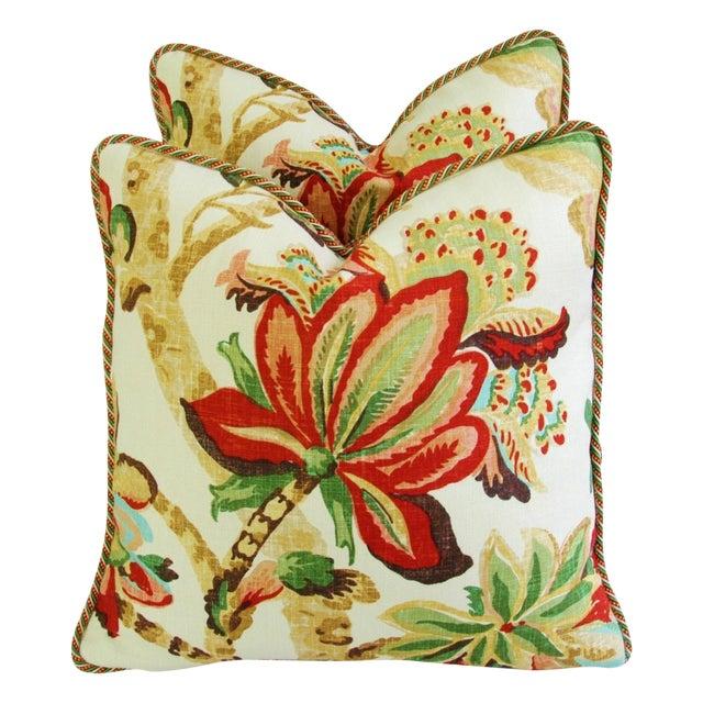 Custom Schumacher Kelmscott Manor Pillows - A Pair - Image 1 of 11