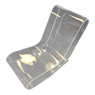 Modern Lcp Lucite Chaise Lounge Chair For Sale