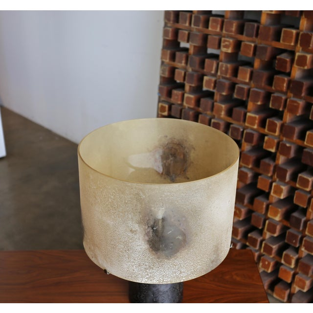 Alfredo Barbini Scavo Glass Table Lamp, Circa 1965 For Sale In Los Angeles - Image 6 of 9
