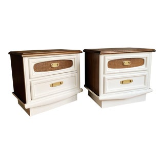 1970s Mid-Century Modern Nightstands - a Pair For Sale