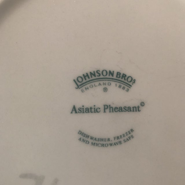 Asiatic Pheasant Johnson Brothers Blue and White Plates - 4 Pieces For Sale - Image 4 of 11