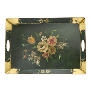 Midcentury Hand-Painted Tole Tray