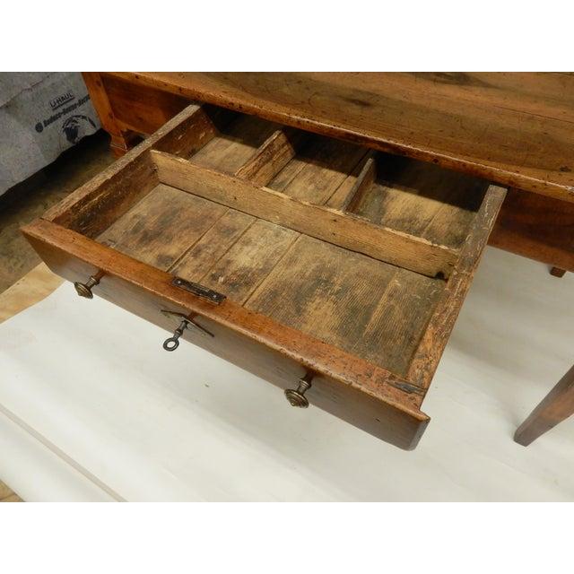 Wood Directoire' Provincial Walnut Farm Table/Desk For Sale - Image 7 of 8