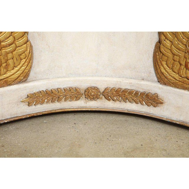 Gold Round Painted and Parcel-Gilt Table With Marble Top For Sale - Image 8 of 10