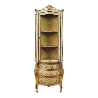 Vintage Florentine Rococo Style Gilt Vitrine
