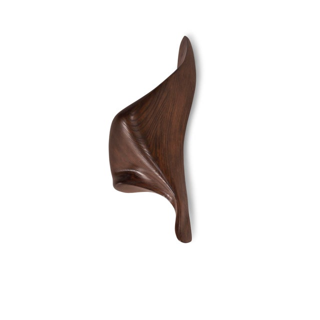 Contemporary Amorph Lustrous Sconces, Graphite Walnut Finish For Sale - Image 3 of 9