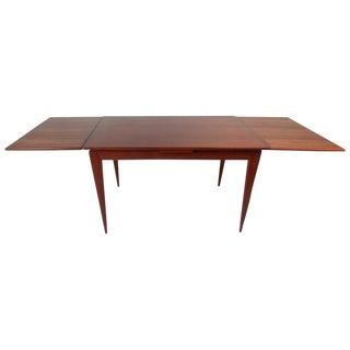 Impressive Mid-Century Modern Teak Draw-Leaf Dining Table by Niels Otto Møller For Sale