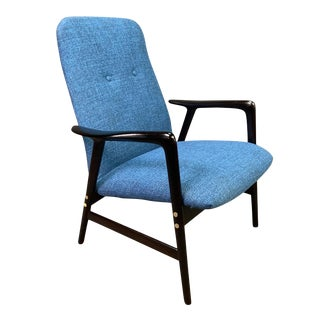 Mid Century Vintage Alf Svensson for Dux Scandinavian Lounge Chair For Sale