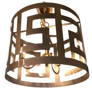 Greek Key Motif Chandelier
