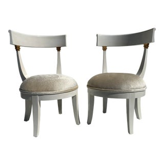 1960s Vintage Vanity Chairs- A Pair For Sale