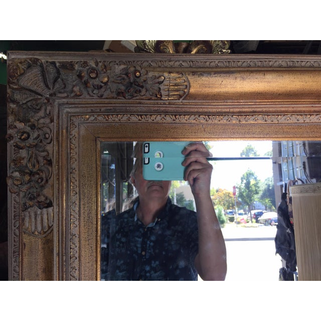 Baroque Large Gold Mirror For Sale - Image 3 of 13