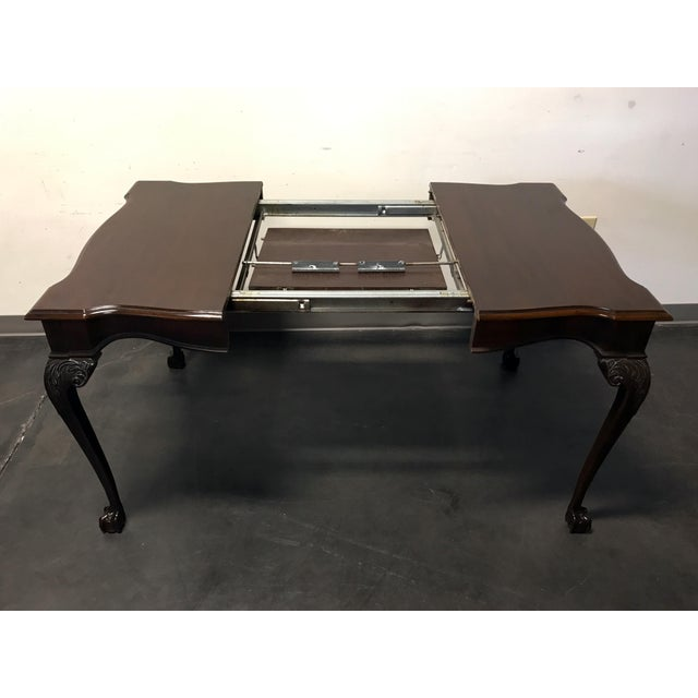 Mahogany Drexel Heritage Heirlooms Chippendale Mahogany Ball Claw Card Table For Sale - Image 7 of 11
