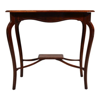 Antique English Rosewood Inlaid Lamp Table For Sale
