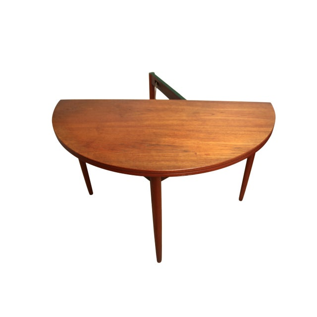 Mid-Century Teak Folding Dining Set - Image 5 of 7