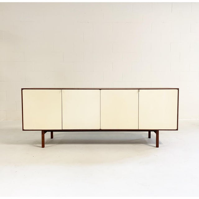 Classic Knoll case piece. We could have a house full of these, on every wall. This is signed with stamped manufacturer's...