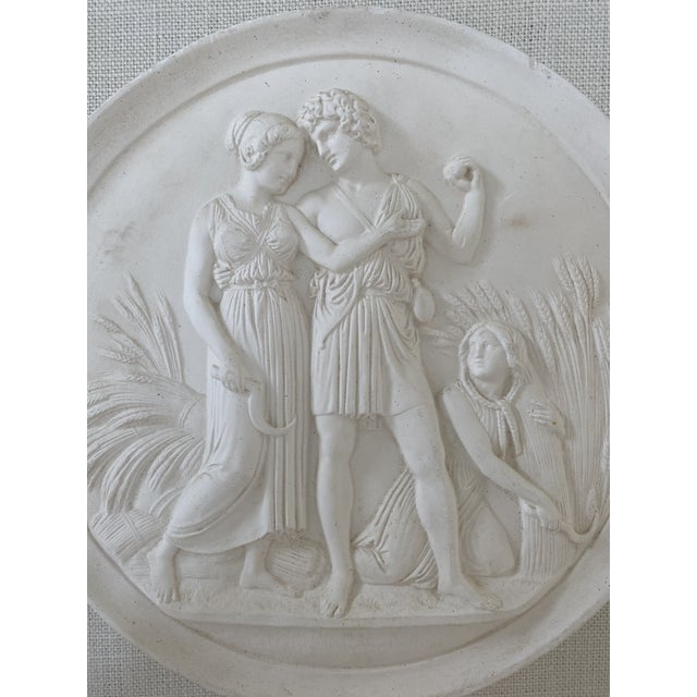 Neoclassical Plaster Intaglios Medallion Plaque For Sale - Image 3 of 9