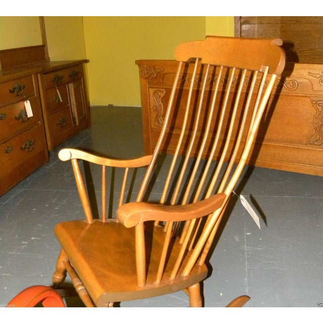 Bent Brothers Antique Maple Rocker For Sale - Image 4 of 6 - Bent Brothers Antique Maple Rocker Chairish