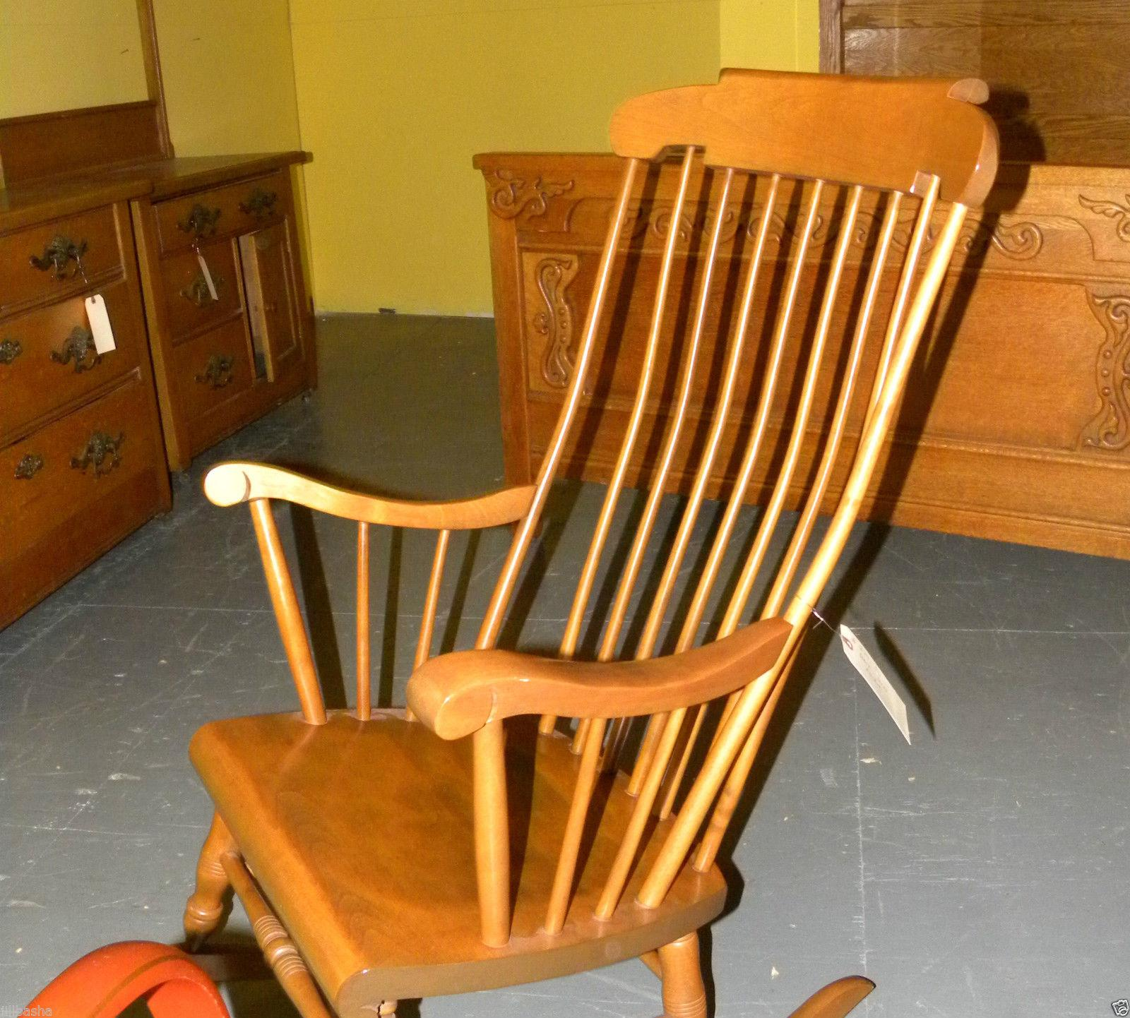 Bent Brothers Antique Maple Rocker For Sale   Image 4 Of 6