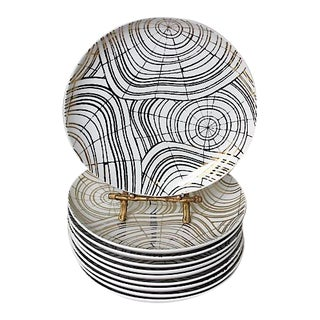 David Stark Organic Modern Wood Slices Salad Plates - Set of 10 For Sale