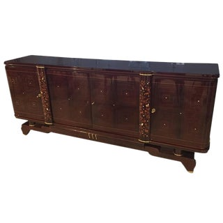 Jules Leleu Style 1920s French Art Deco Buffet For Sale
