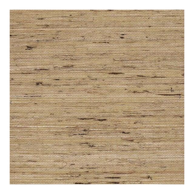 Jonathan Adler Grasscloth Wallpaper in Oatmeal For Sale