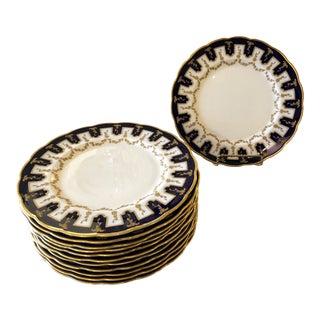 Vintage English Porcelain Dinner Plates -Set of 12 For Sale