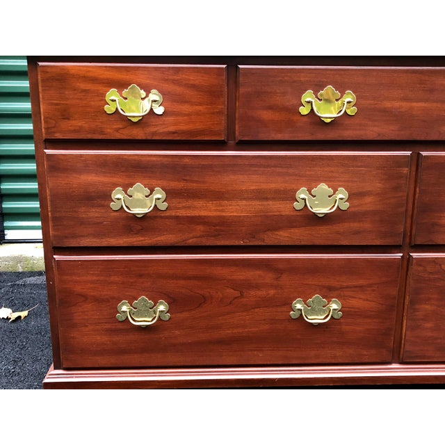 Henkel Harris Solid Cherry Long Dresser For Sale In Boston - Image 6 of 13