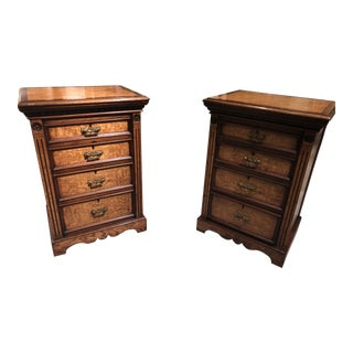 19th Century Ash Veneered Chests - a Pair For Sale