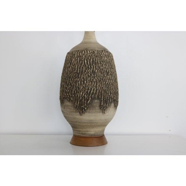 Brutalist Lee Rosen for Design Technics Brutaist Studio Ceramic Lamp For Sale - Image 3 of 6