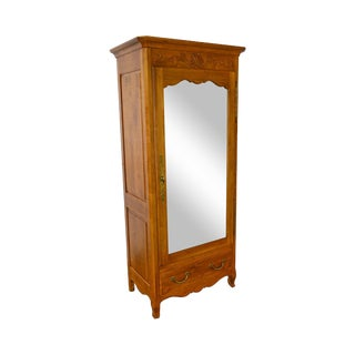 Ethan Allen Legacy Collection French Country Style Mirror Door Armoire For Sale