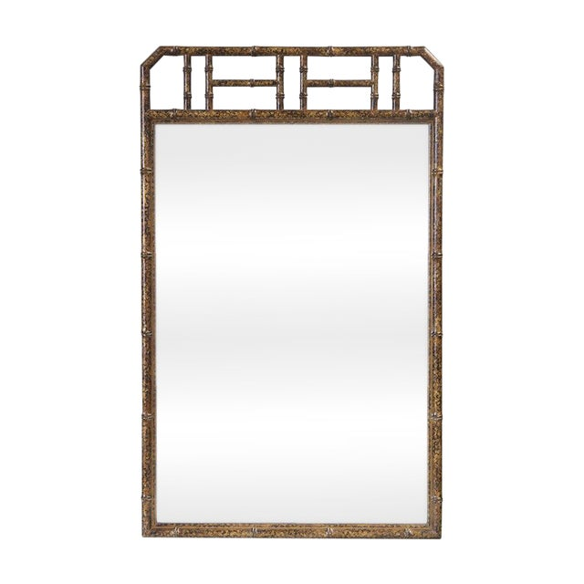 Bamboo Form Frame Tortoiseshell Mirror For Sale