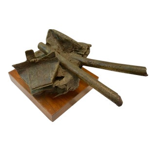 1960s Solid Bronze Abstract Sculpture by Russel Baldwin For Sale
