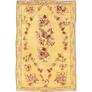Antique Turkish Ghiordes Carpet - 3′4″ × 5′ For Sale